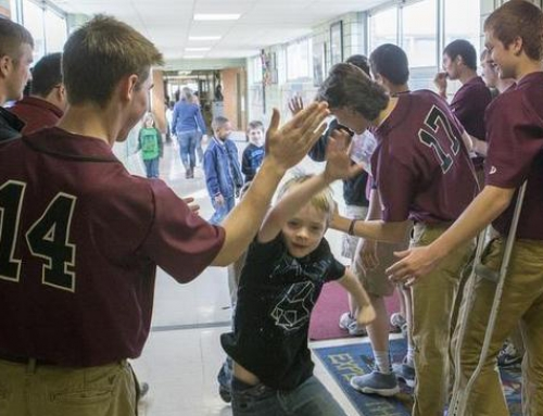 West Baseball Players Visit Abraham Lincoln Elementary School, BND